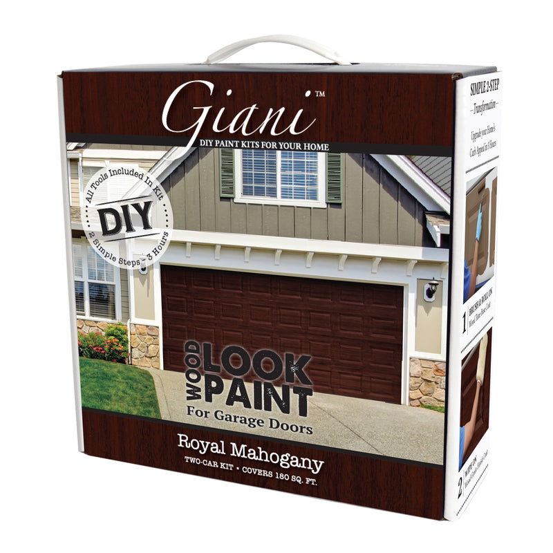 Giani Royal Mahogany Wood Look Kit for Garage Doors
