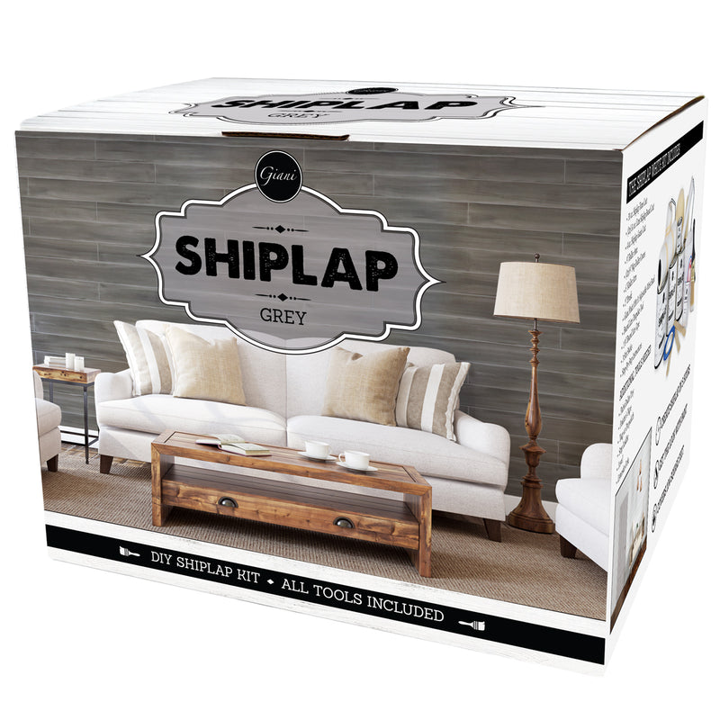 Shiplap Grey (Rustic) Retail Kit Packaging