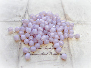 20 Lavender Fire Polished Czech Glass Beads 3 mm