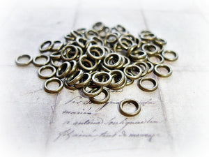 Antique Bronze 6 mm Closed Jump Rings