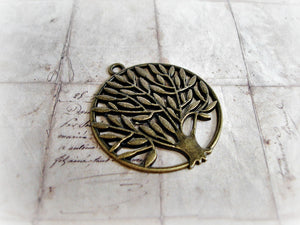 Antique Bronze Tree Of Life Large Pendants