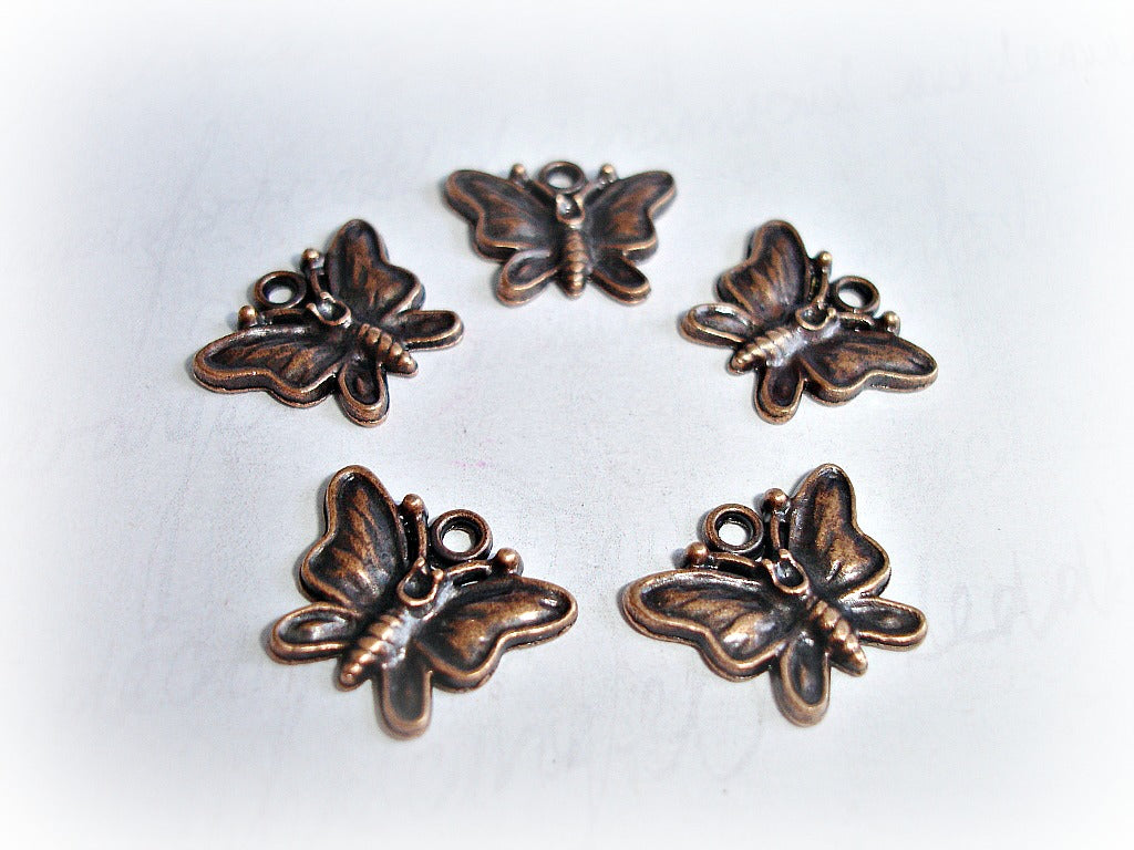 Antique Copper Butterfly Charms