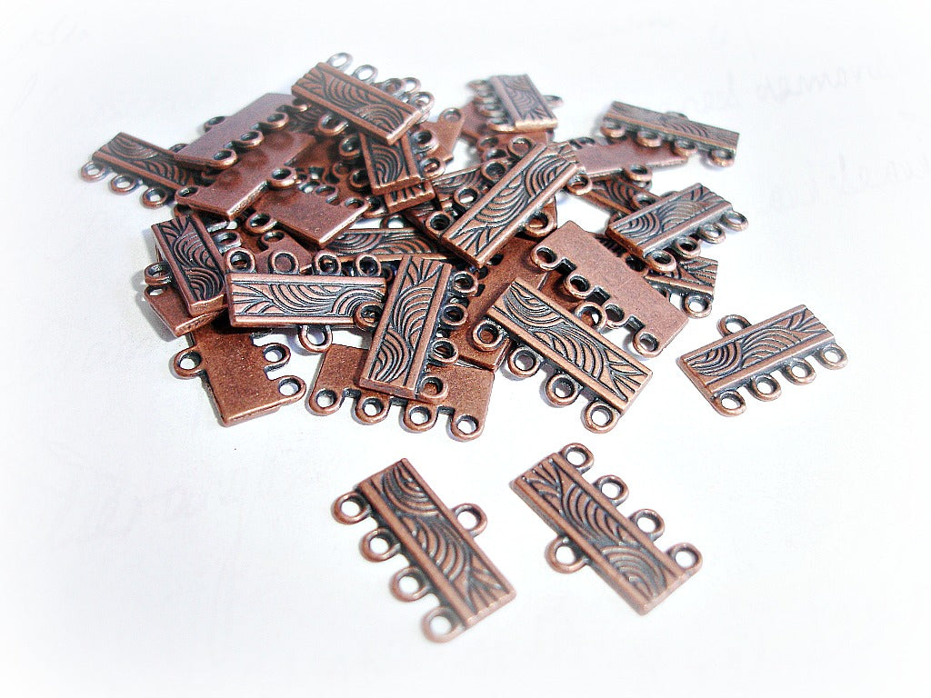 Antique Copper 4 Strand Chandelier Connectors