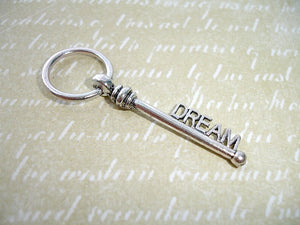 Antique Silver Dream Key Pendant Charms