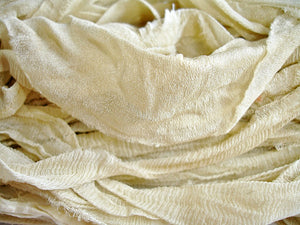 Natural Cream Chiffon Silk Ribbon