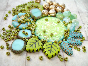 Turquoise Blue Green Snowflake Jewellery Making Kit Beading Project