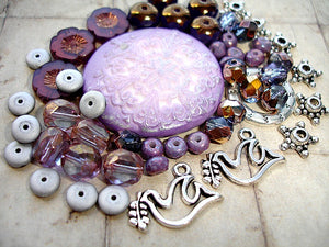 Purple Snowflake Jewellery Making Kit Beading Project