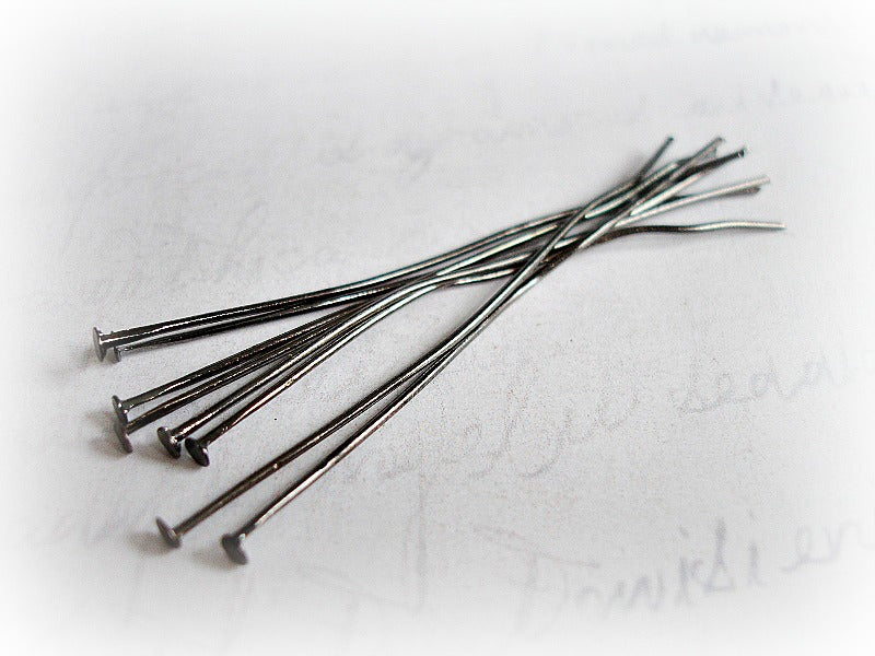 Gun Metal Flat End Head Pins