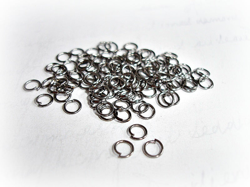 Gun Metal Open Jump Rings 5 mm