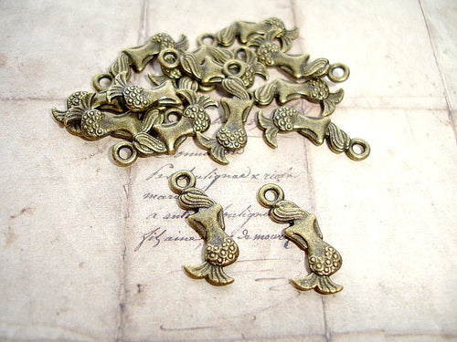 Antique Bronze Mermaid Charms