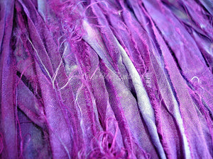 Rich Purple Hand Dyed Sari Silk