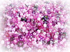 Purple Seed Bead Mix - Summer Fruits Pink Purple 3/0 - 11/0