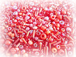 Seed Bead Mix - Burlesque Red 3/0 - 11/0