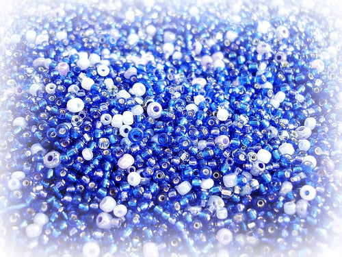 Dark Blue Seed Bead Mix - Starry Nights Cobalt Blue & Lilac 10/0 - 11/0