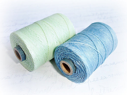 1 Yard - Cornflower Blue - 4ply Irish Waxed Linen Cord