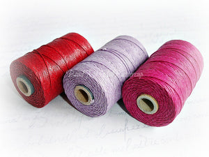 fuchsia pink 4ply Irish waxed lined cord