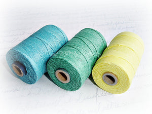 turquoise blue 4ply Irish waxed lined cord