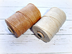 cream 4ply Irish waxed lined cord