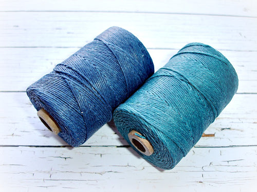 teal green 4ply Irish waxed lined cord