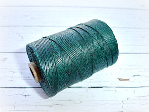 emerald green 4ply Irish waxed lined cord