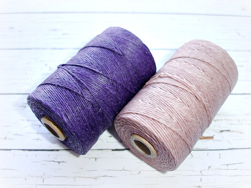 dark plum 4ply Irish waxed lined cord