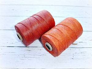 orange 4ply Irish waxed lined cord