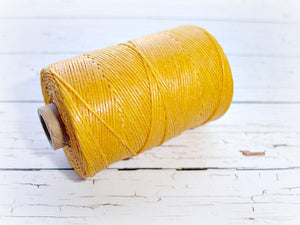 sunflower yellow 4ply Irish waxed lined cord