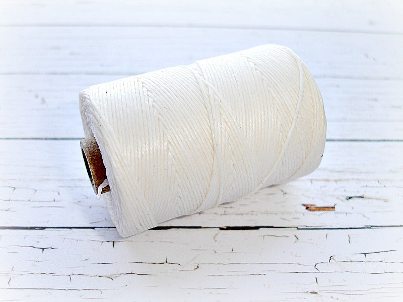 white 4ply Irish waxed lined cord