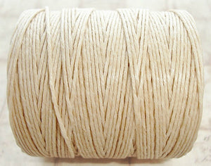 1 Yard - Natural Cream Light Brown - 7ply Irish Waxed Linen Cord