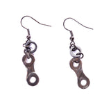 Bike Chain Earrings