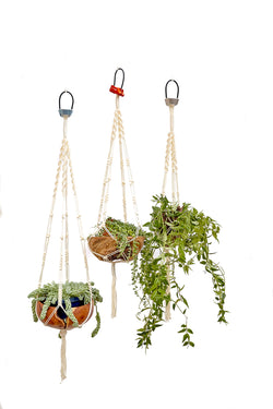 Rope Core Macrame Hanging Planter - Braided - Belay Device