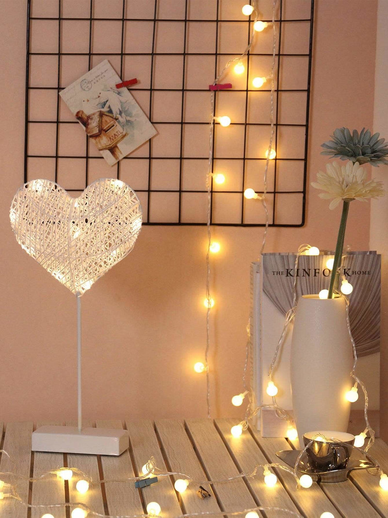 10pcs Bulbs Heart Shaped Table Lamp - Lighting & Lamps
