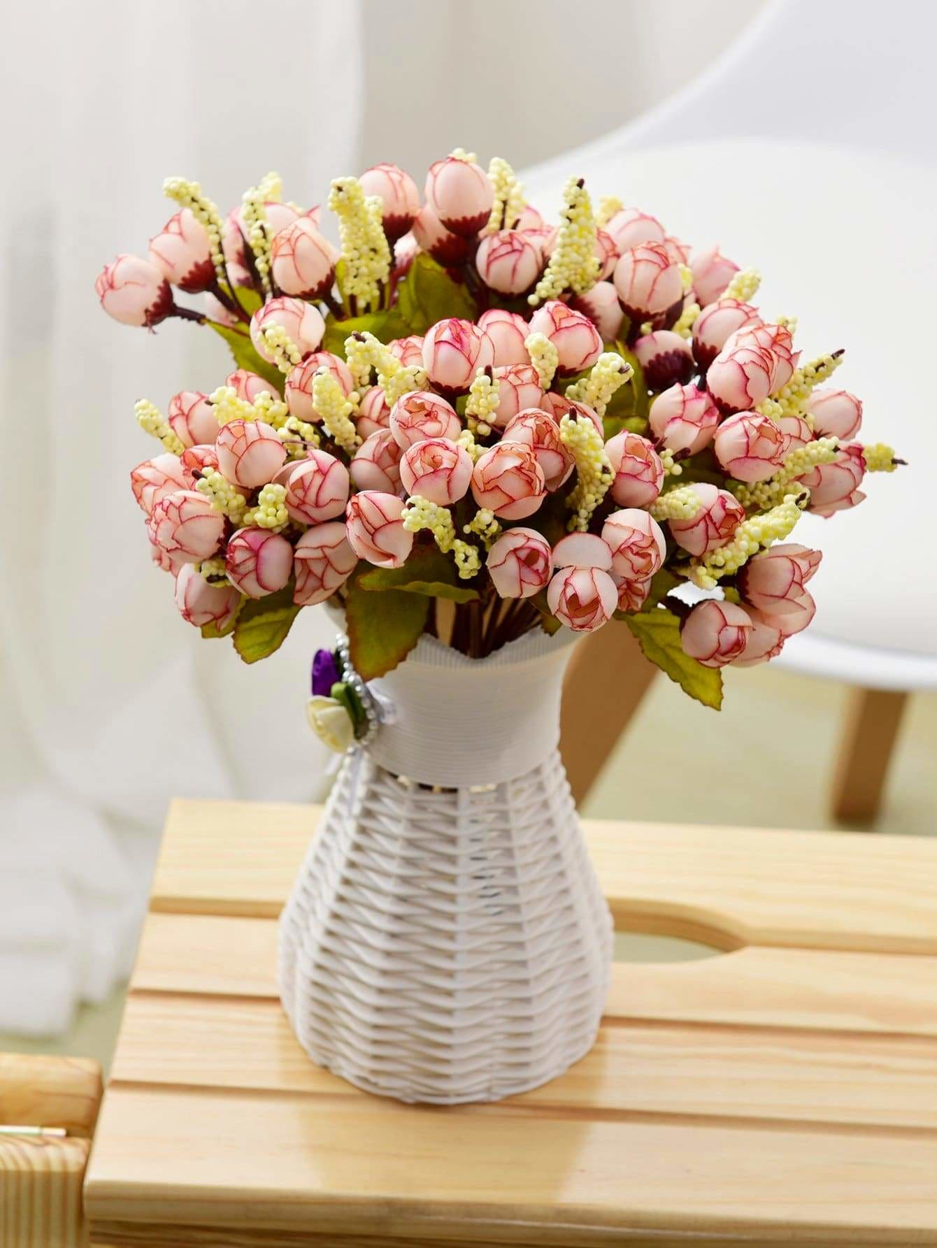 15pcs Rose Bud Artificial Bouquet - Vases & Artificial Flowers