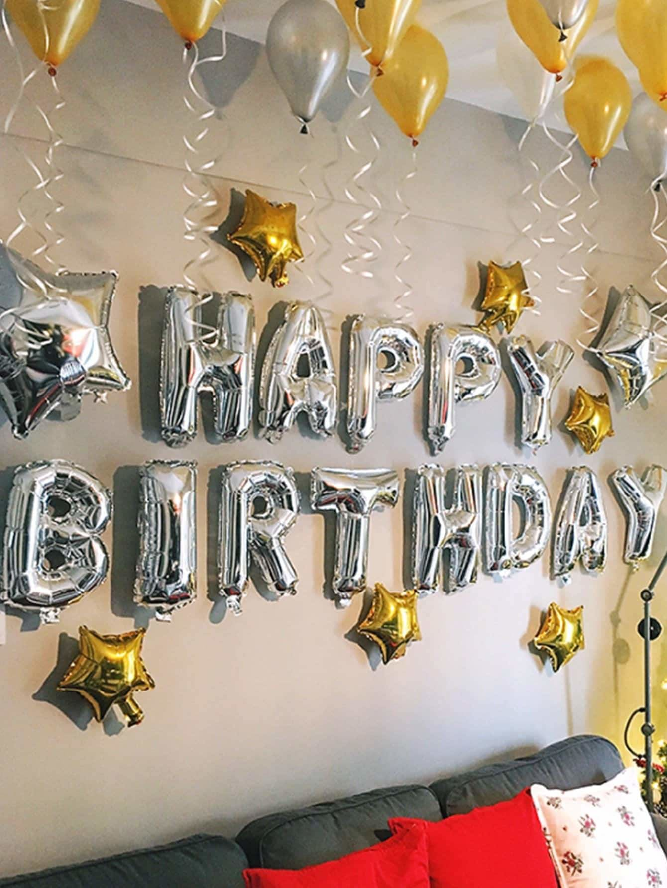 16inches Birthday Balloon Banner 13pcs - Holiday Decors