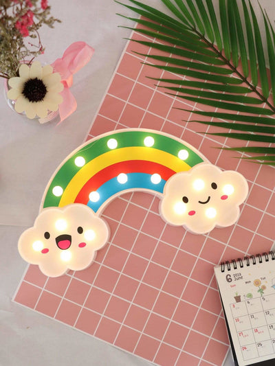 16pcs Bulbs Rainbow Shaped Table Lamp - Lighting & Lamps