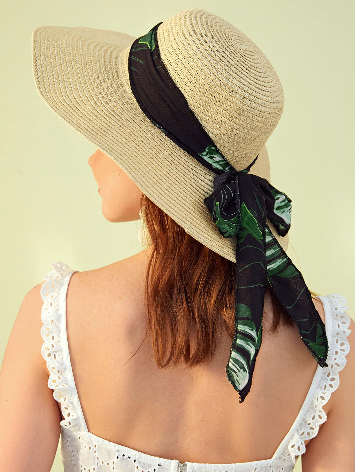 Tropical Bow Knot Floppy Hat
