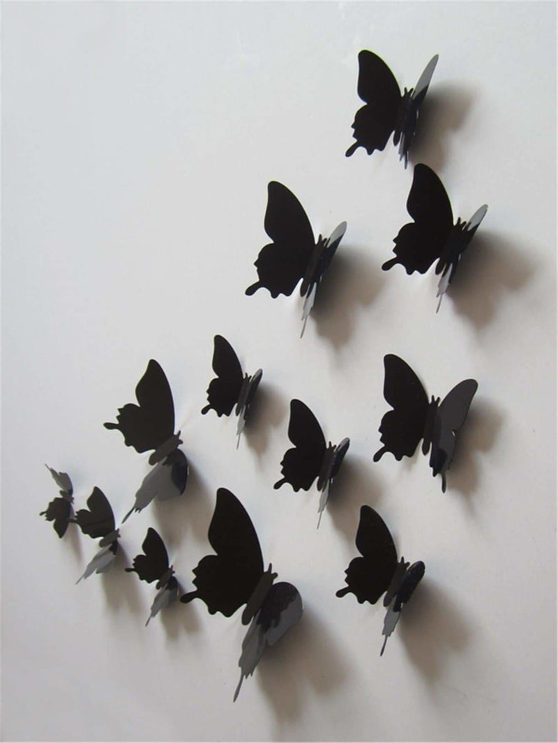 3D Butterfly Wall Sticker 12Pcs - Wall Art