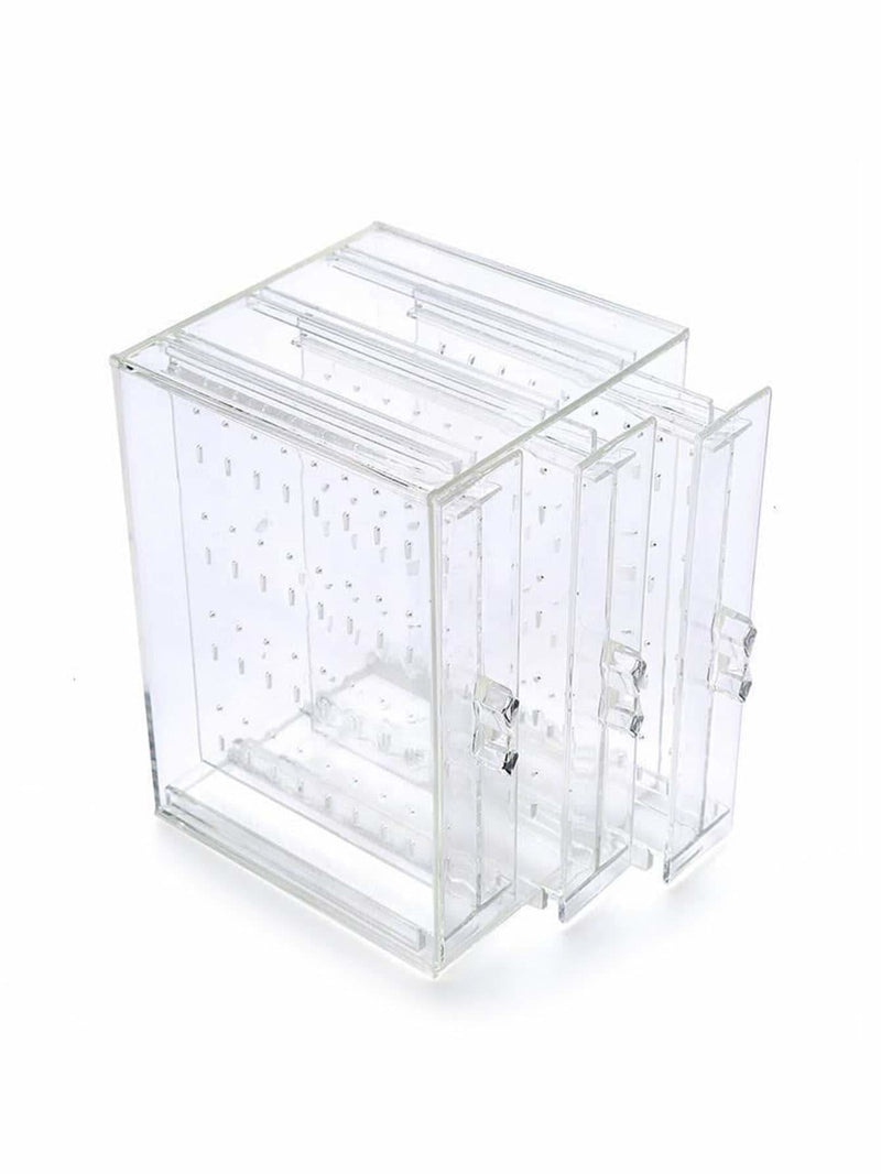 3drawers Clear Jewelry Storage Box
