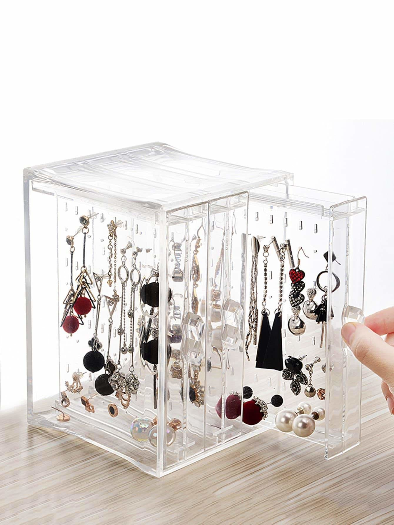 3drawers Clear Jewelry Storage Box - Storage & Organization