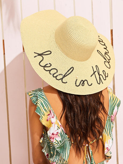 Sequin Letter Floppy Hat