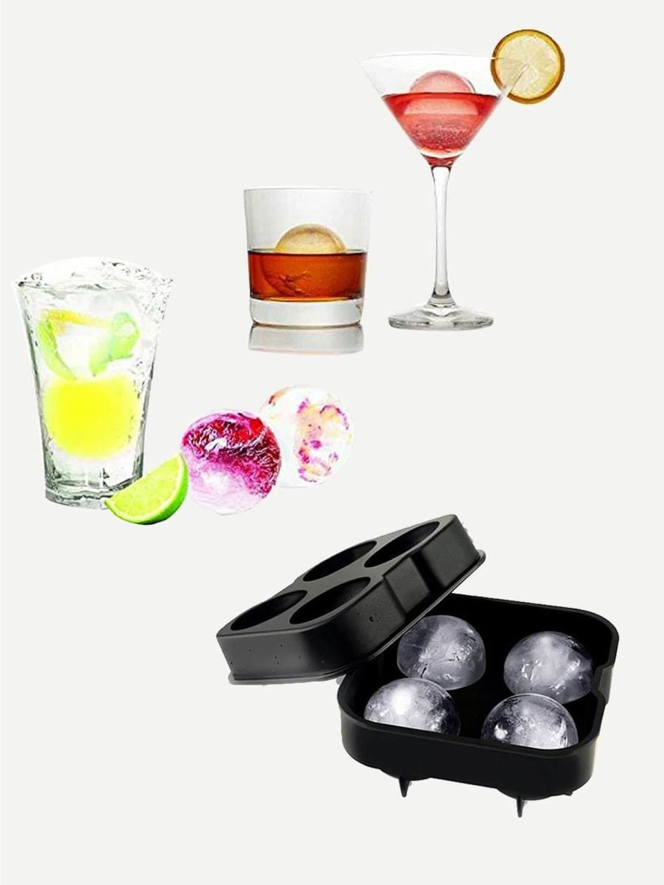 4 Compartment Ice Ball Mold 1Pc - Kitchen Tools