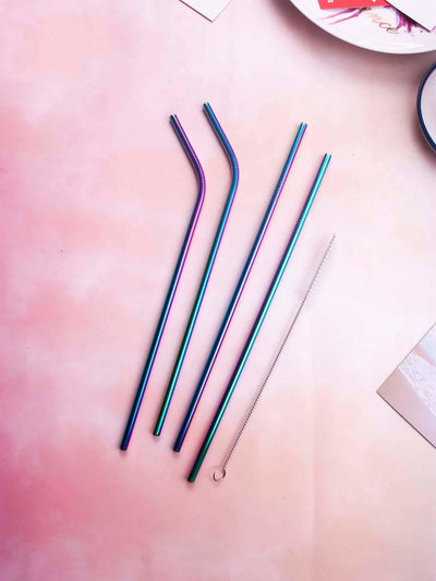 4Pcs Straw & 1Pc Brush & 1Pc Pouch - Dining