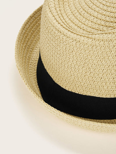 Men Coconut Tree Embroidery Fedora