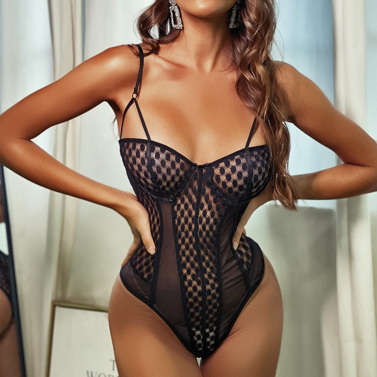 Black Fishing Net Bodysuit