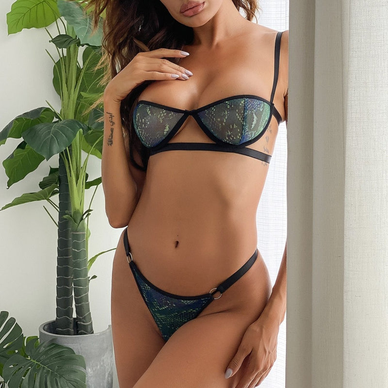 Sexy Green Lingerie Set