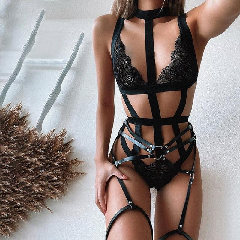 Sexy Hollow Out Lace Festival Bodysuit