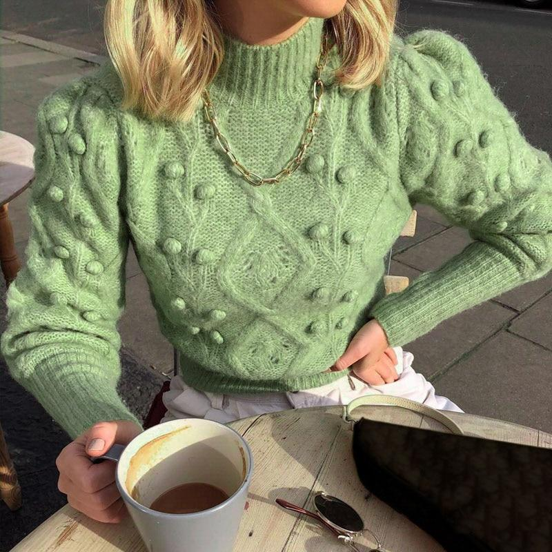 Turtleneck Hairball Casual Knitted Sweater
