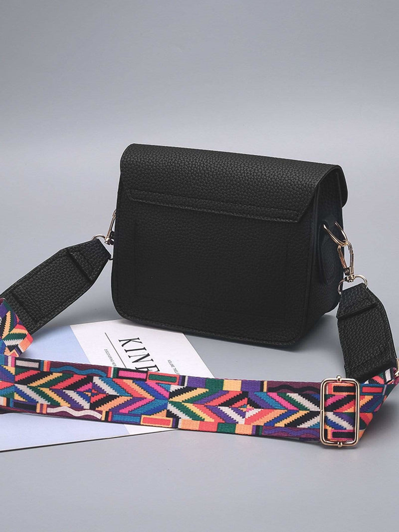 Abstract Print Festival Bag With Guitar Strap - Womens Bag