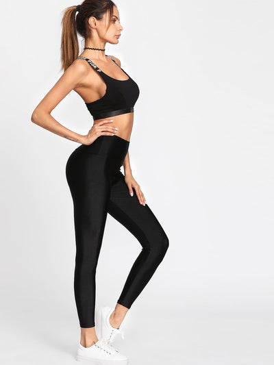 Active High Waist Crop Leggings - Fittness Leggings