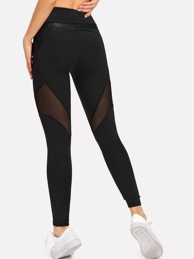 Active Mesh Insert Leggings - Fittness Leggings